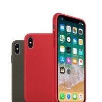 Dla iPhone X 8 7 Plus Nowe Kolory Silikonowe Silicon Case Dziennik Projekt Oryginalny Elegancki Pełna Ochrona Telefon przykryć logo