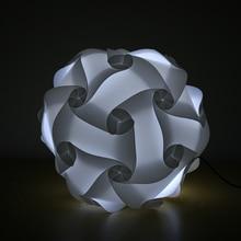 DIY Creative Elements IQ Puzzle Jigsaw Led Light Lamp Shade Design Bar Decor Home Decoration