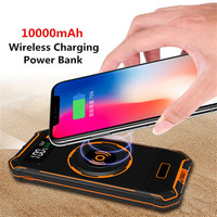Wireless Charging Power Bank For iPhone X 8 Plus Wireless Phone Charger Powerbank For Samsung Galaxy S9 Plus Huawei P20 10000mA