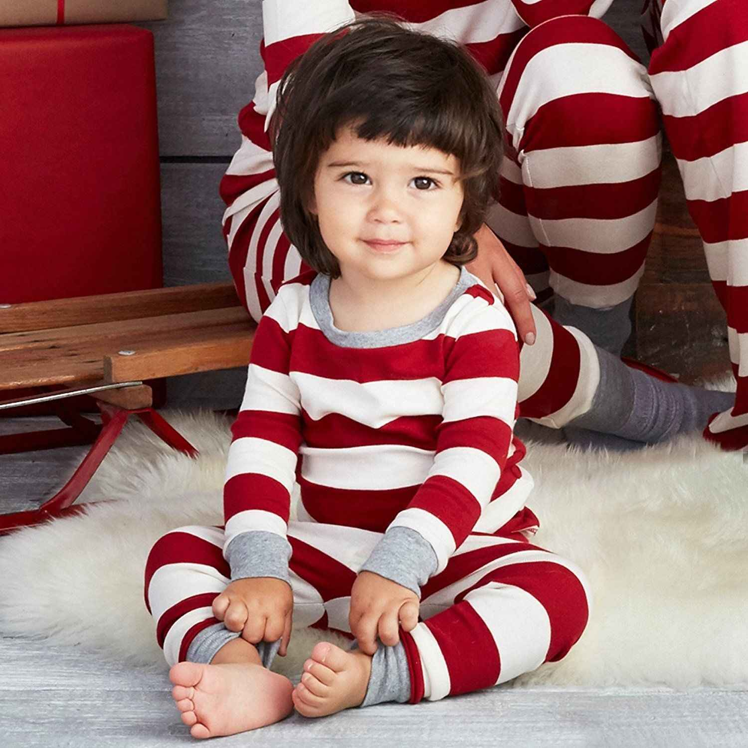 c746714e5 Detail Feedback Questions about Xmas Striped Family Matching Outfits ...
