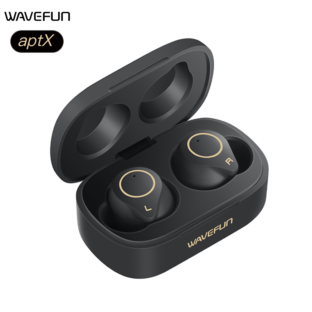Wavefun Bluetooth Earphone aptX HIFI Headphones IPX7 Earbuds Wireless Earphones Touch Control TWS Headset BT5 0
