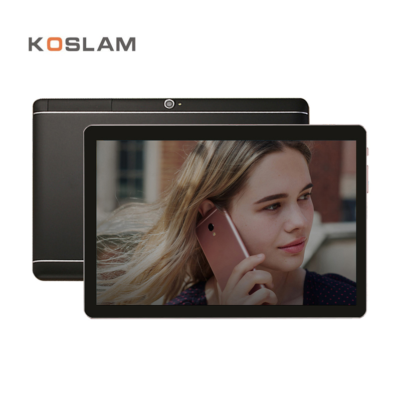 KOSLAM 10 Inch Android 7.0 Tablet PC 1920x1200 IPS Screen Quad Core 2GB RAM 16GB ROM Dual SIM Card 4G LTD FDD Phone Call Phablet yuntab 8 android 6 0 tablet pc h8 quad core 2gb ram 16gb rom 4g mobile phone with dual camera bluetooth 4 0 support sim card