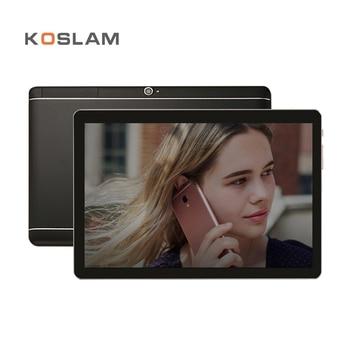 KOSLAM 10 Inch Android 7.0 Tablet PC 1920x1200 IPS Screen Quad Core 2GB RAM 16GB ROM Dual SIM Card 4G LTD FDD Phone Call Phablet 10 1 inch original 4g lte phone call google android 7 1 1 mt6797 10 core ips tablet wifi ram 6gb rom 128gb metal tablet pc