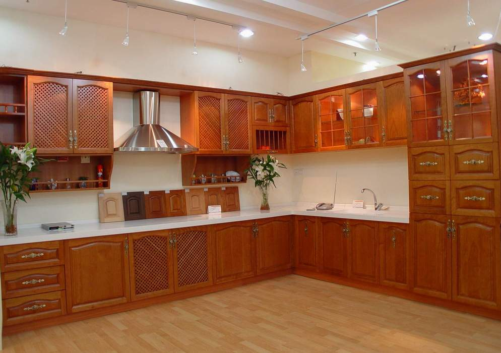 2017 New Design American Solid Wood Cabinet America Ktichen Cabinet With Solid Wood Door Panel