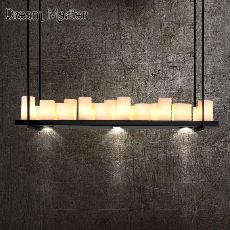 цена American country retro industry iron candlestick chandelier originality personality simplicity modern bar living room  lamps онлайн в 2017 году