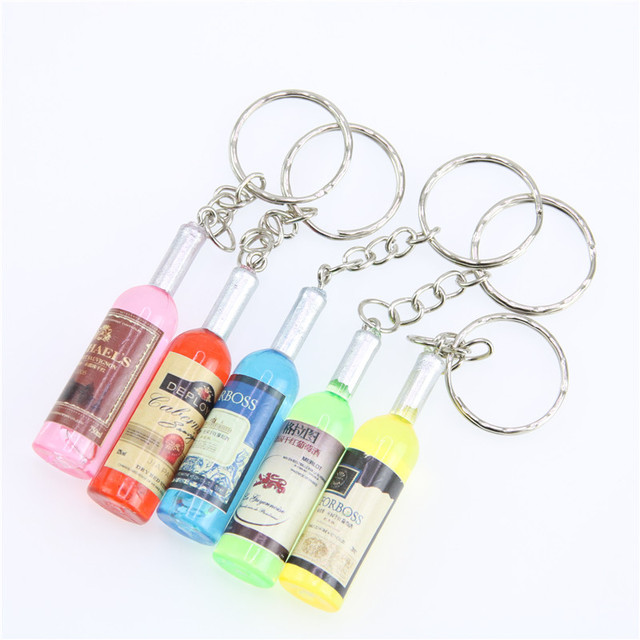 AiNian Couple key chain car key ring pendant keychain phone connected to a mobile phone beer bottle wholesale