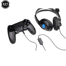 Para Sony PS4 auriculares con cable para Gaming auriculares con micrófono Micrófono estéreo Super Bass para PlayStation 4 Gamers(China)