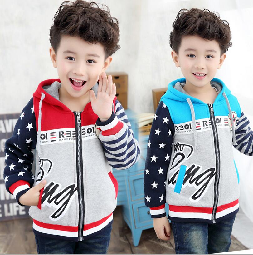 ФОТО Thickening Children's Clothing Long Sleeve Vetement Enfant Garcon Winter Jackets For Boys Hooded Outerwear Kids Boy Costume