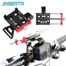 Jinserta cnc de alumínio da bicicleta suporte montagem para gopro 7 adaptador suporte com suporte do telefone móvel para gopro 6/5 xiaomi yi