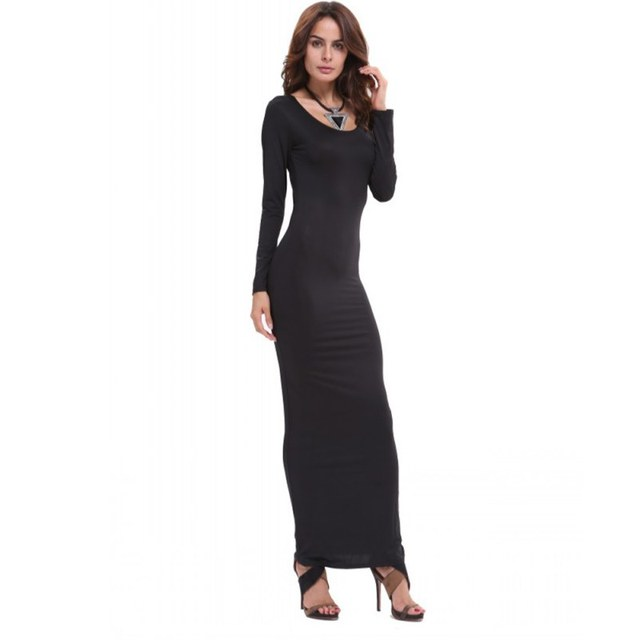 Fashion Women s Stretch Bodycon Slim Long Dress Long Sleeve Maxi Dresses  Clubwear Hot PY3-in Dresses from Women s Clothing on Aliexpress.com  e36b9cf3342f