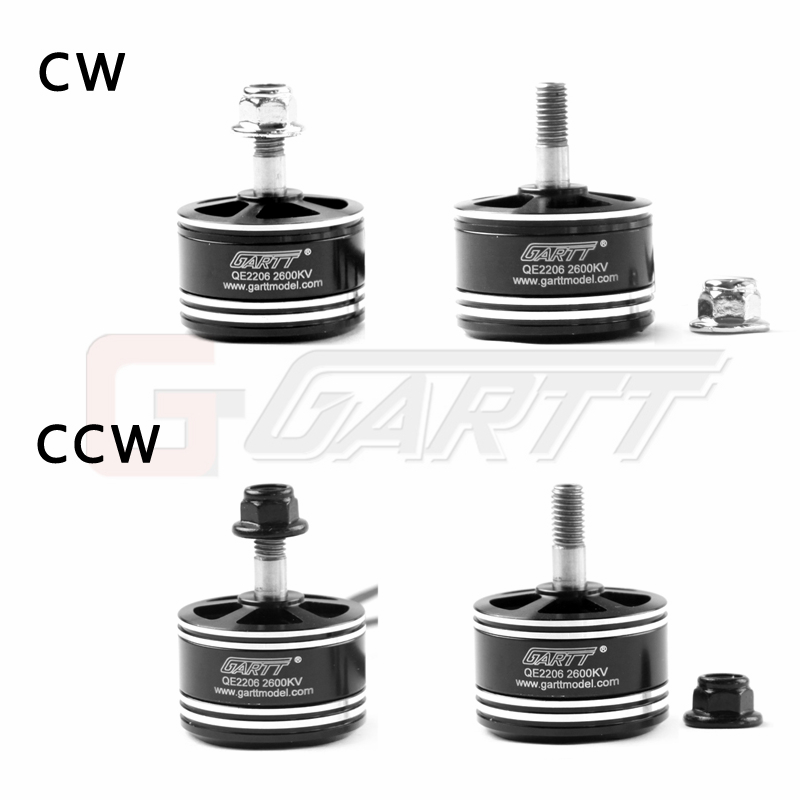 GARTT QE 2206 2600KV CW/CCW Brushless Racing Motor For QAV FPV RC 210 250 zmr 300 Quadcopter Multirotor Mini Drones 2017 dxf sunnysky x2206 1500kv 1900kv outrunner brushless motor 2206 for rc quadcopter multicopter