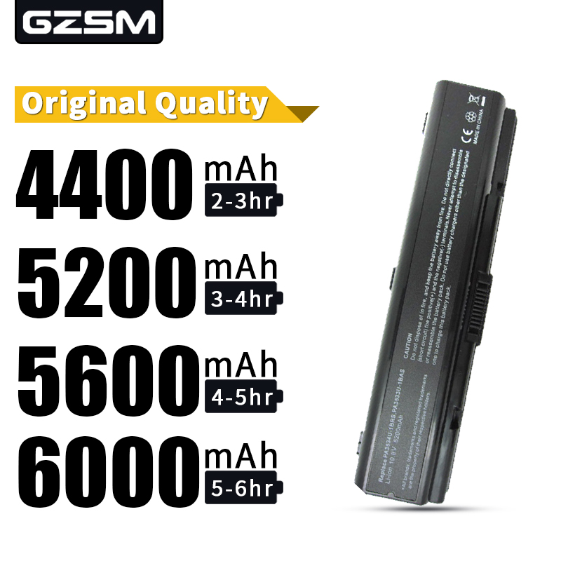 HSW Laptop Battery For <font><b>Toshiba</b></font> pa3534 pa3534u PA3534U-1BAS PA3534U-1BRS Satellite A300 A500 L200 L300 <font><b>L500</b></font> L550 L555 battery image