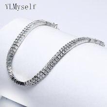 Круглые маленькие хрустальные браслеты 19 см с 2 линиями быстрая