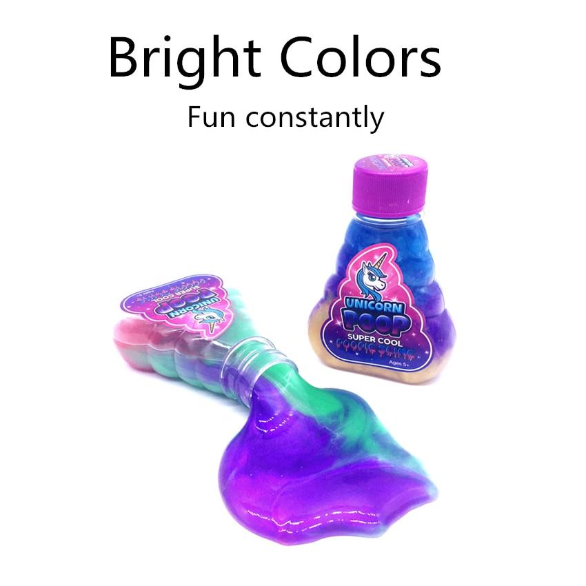Unicornio Slime DIY Poop Unicorn Clay Mix Rainbow Colors Crystal Mud Jelly Putty Fragrance Light Floam Antistress Party Toys Kid