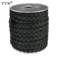 9x3mm 25m Spool Black Full Grain Cowhide Leather Bracelets String Braided Leather Rope Hand Made Jewelry
