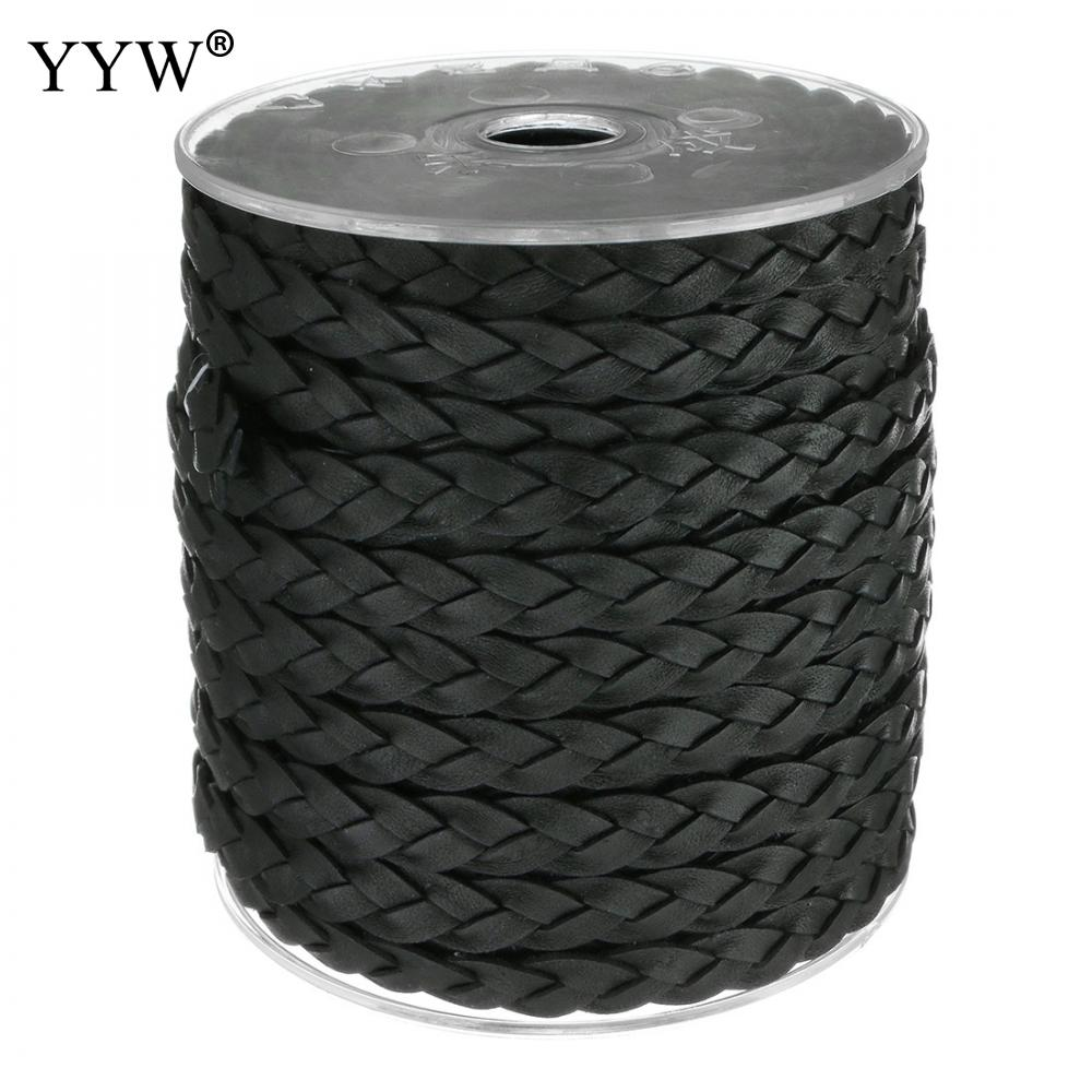 9x3mm 25m/Spool Black Full Grain Cowhide Leather Bracelets String Braided Leather Rope Hand Made Jewelry Making Diy Cord Black 4 pcs cowhide rope hand bracelet