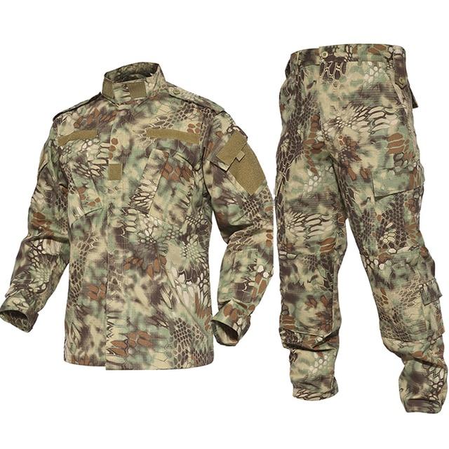 Airsfot охотничья тактическая армейская форма комплект рубашка брюки Униформа Kryptek черная Военная Маскировочная Униформа Военная уличная одежда