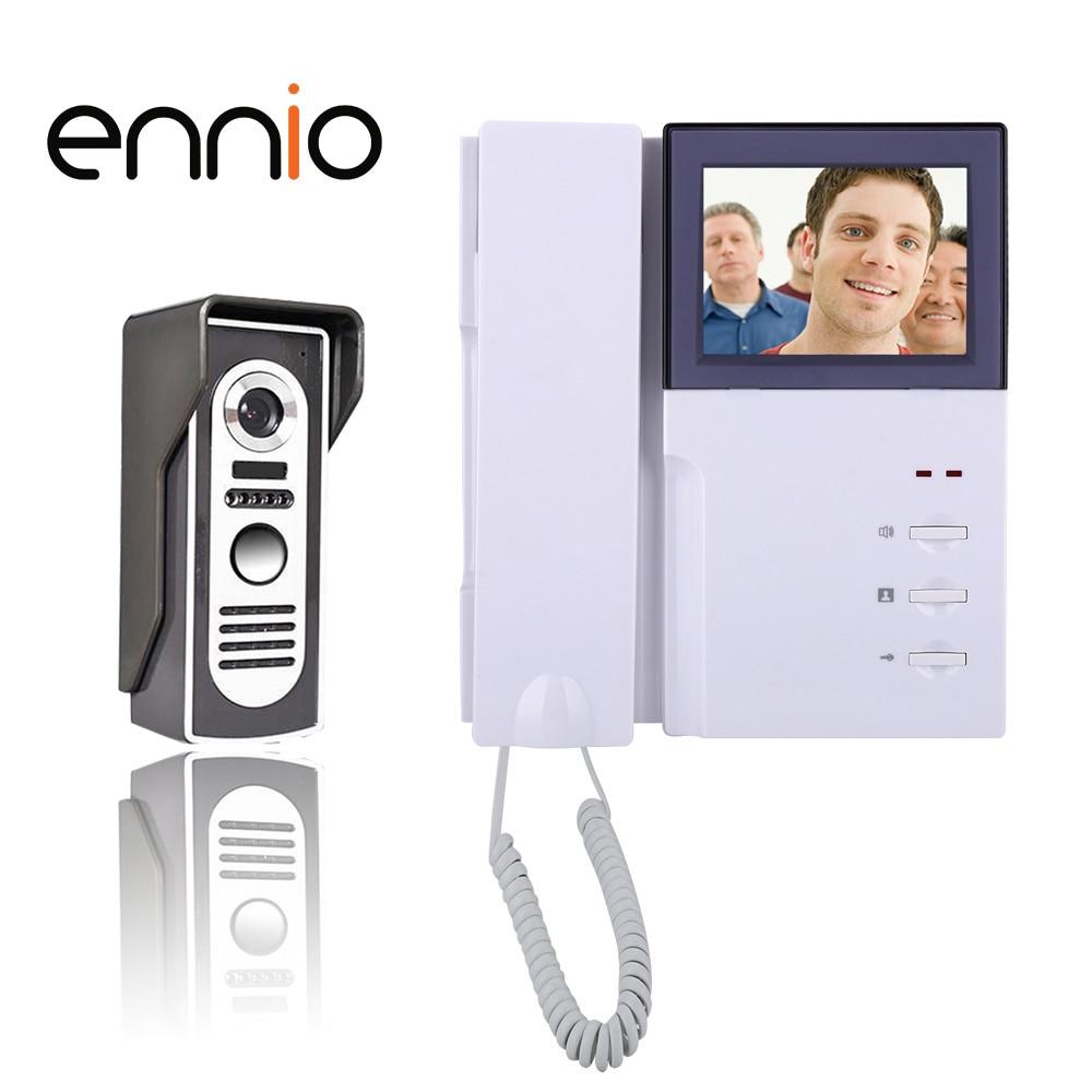 ENNIO SY451M11 4 Inch Video Door Phone Doorbell Intercom Kit 1-camera 1-monitor Night Vision