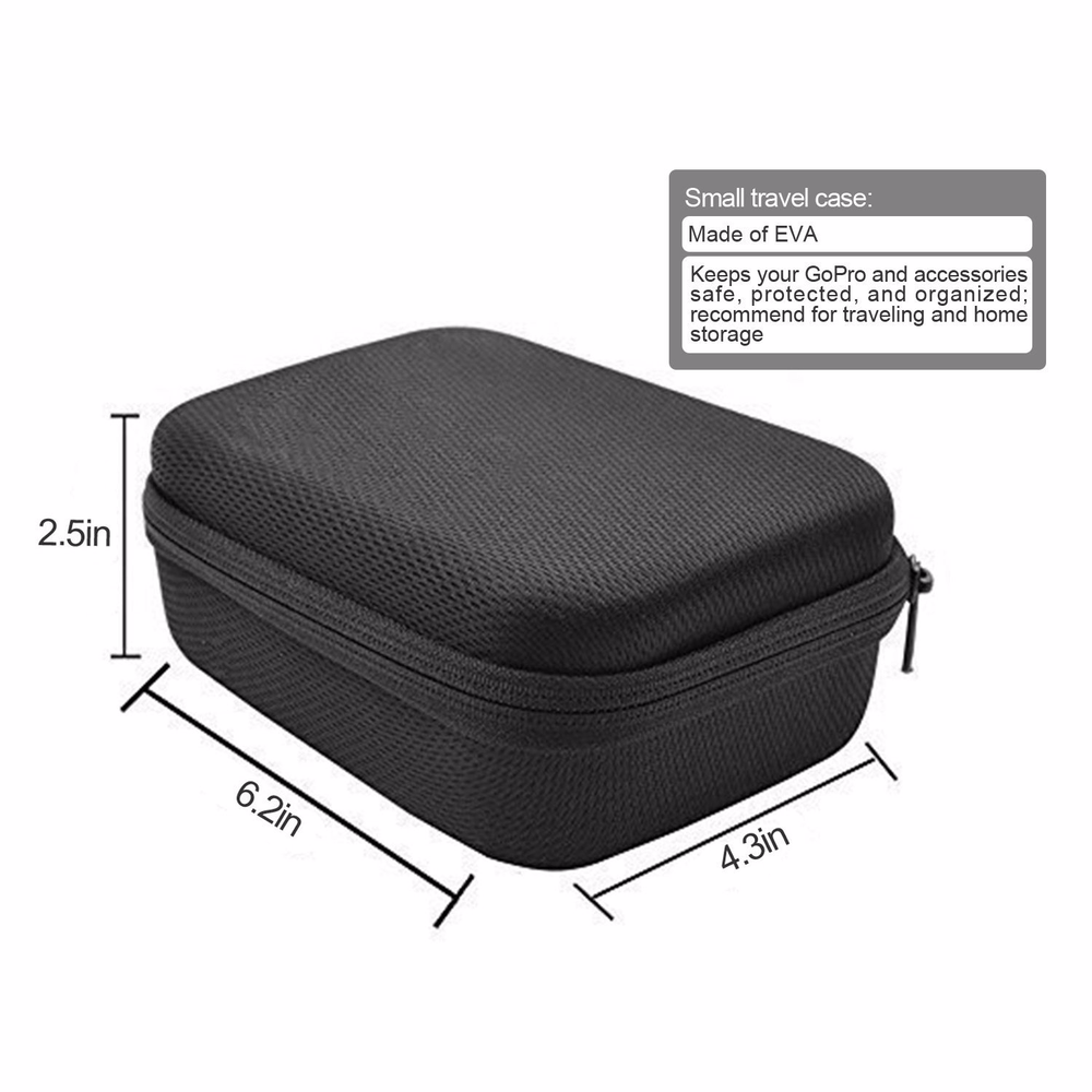 Image 2 - Action Camera Accessories For GoPro Hero 7 6 5 Waterproof Case Travel Screen Protector Lens Filter Silicone Protective Case Bag-in Sports Camcorder Cases from Consumer Electronics