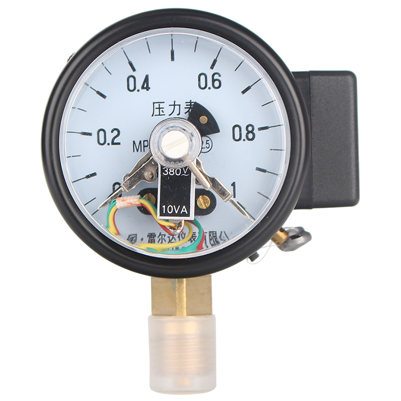 цена на Leierda pressure gauge with electric contact pressure switch gas pressure gauge upper lower limit control gauge YX-60