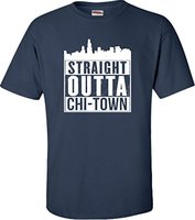 Custom T Shirts Online Women S Casual Crew Neck Short Sleeve Straight Outta Chi Town Funny