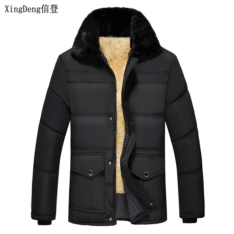 XingDeng Fashion Men Casual Warm Jacket Zipper Business Coat Men's Brand-Clothing Winter Jackets Male Top Coats