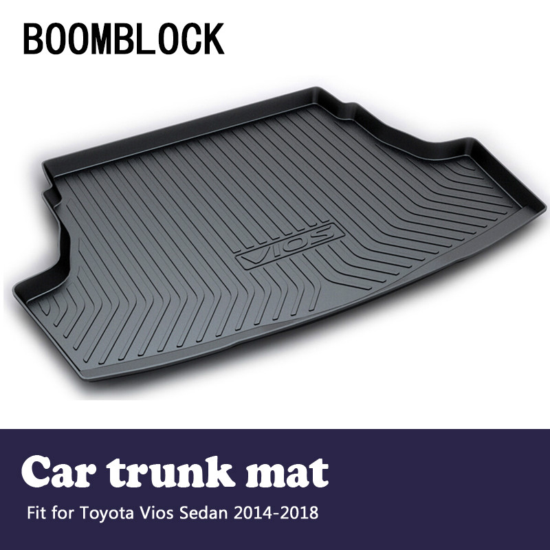 BOOMBLOCK For Toyota Vios Sedan 2014 2015 2016 2017 2018 Waterproof Anti-slip Car Trunk Mat Tray Floor Carpet Pad Protector infant cloth book intelligent toy 6pcs set page 8