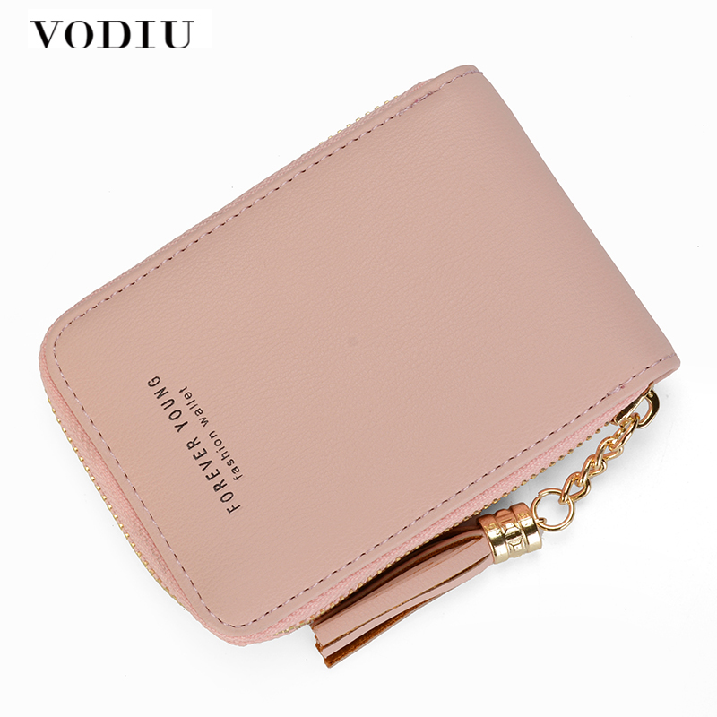RFID Wallet Card Holder Women Leather Female Small Purse Coins Zipper Tassel Clutch Photo Holder Fashion Famous Brand Designer female wallet women purse cute anime cat wallet moman long wallet zipper tassel designer sweet bag for phone card coins holder