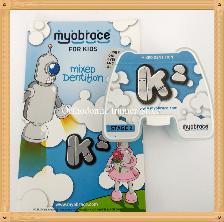 Myobrace for Kids K2 orthodontic teeth trainer/Dental Orthodontic brace K2 Mixed dentition/K2 teeth trainer appliance open bite myofunctional infant trainer phase ii hard oringal made in australia infant primary dentition trainer girls