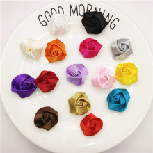 Wholesale 300pcs/lot Satin flower For Clothes Sewing Supplies DIY Craft Decoration