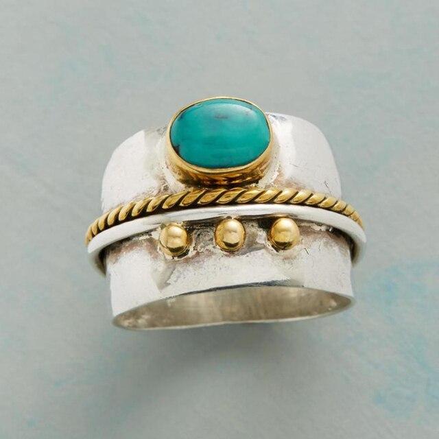 Punk Classic Green Ring