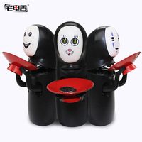 ZHAIDIANSHE anime No Face money box creative band Man eat coin automatically music toy figures toys for children halloween gifts