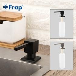 Frap Square Soap Dispensers Kitchen Deck Mounted Pump Soap Dispensers for Kitchen Built In Counter Top Dispenser Black Y35030/-1