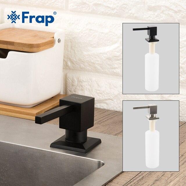 Sıkı bağlamak Kare sabunluklar Mutfak Güverte Monte Pompa için sabunluklar Mutfak Sayacı Üst Dağıtıcı Inşa Siyah Y35030/ 1