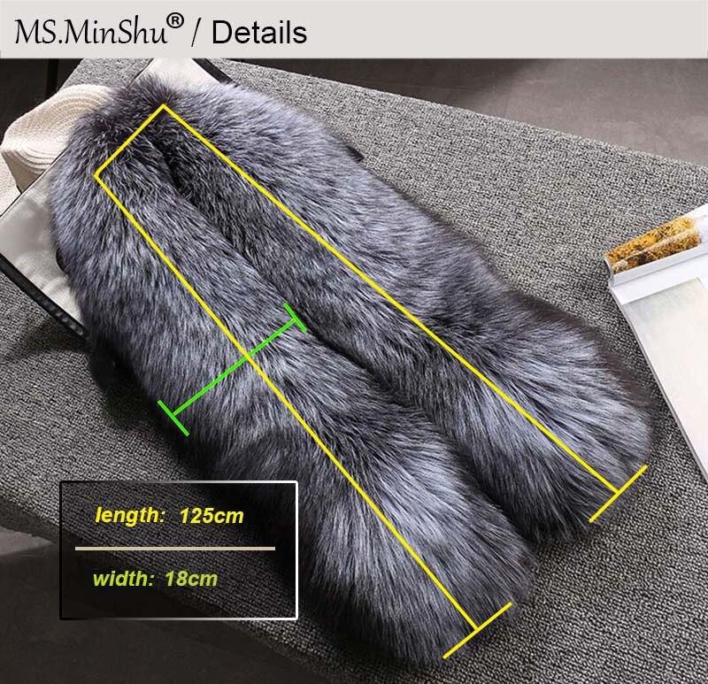 fox skin scarf big fox fur scarf details 3