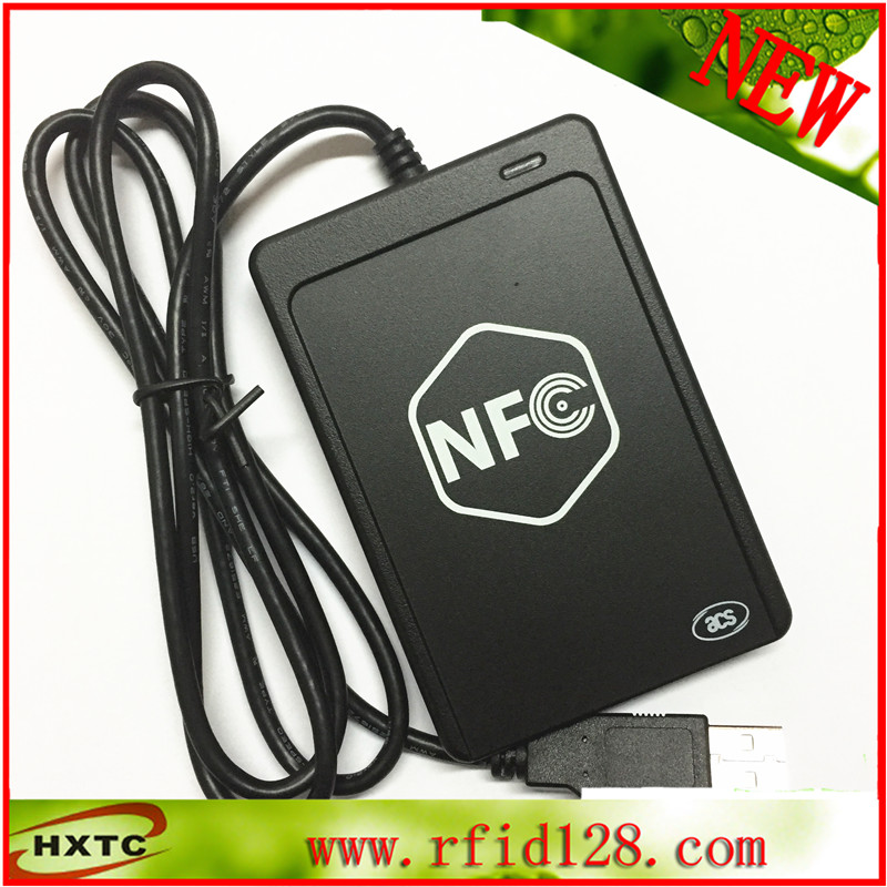 ФОТО Free Shipping USB Smart NFC RFID Card Reader Writer ACR1251U-M1 With a SAM slot& Support android system + 2PCS M1 Cards+SDK