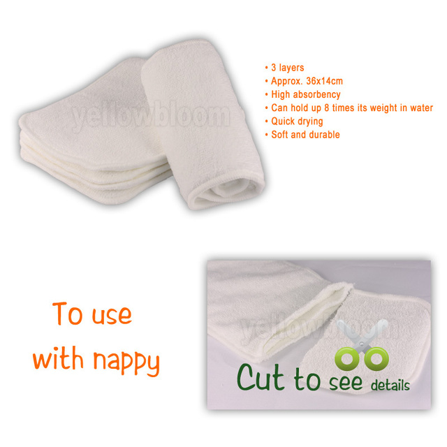 Reusable Washable Cloth Diaper Inserts For Real Pocket Cloth Diaper
