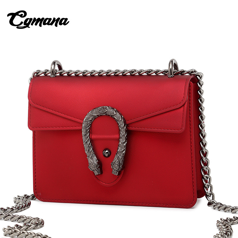 CGmana Women handbag 2018 Dionysian Bag Simple Jelly Chain Bag Retro Shoulder Messenger Women Crossbody Bag Bolsa Feminina