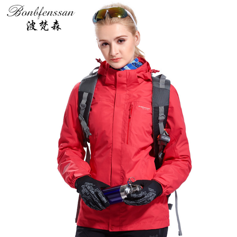 Women Winter 3 in 1 Inner Fleece Outdoor Jackets Thermal Waterproof Windproof Sports Camping Hiking Female