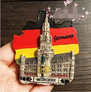 Hot Selling Newest Mail Exported To Munich, Europe, Germany Tourist Landscape Memorial Refrigerator Sticke Home Decor