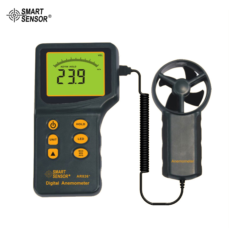 цена на Digital Anemometer Wind Speed Meter Smart Sensor AR826