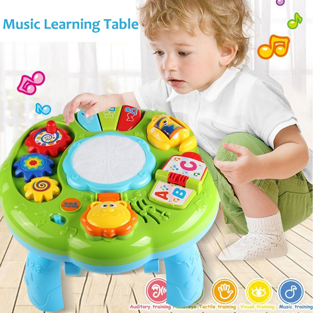 Multifunction Baby Music Toy Instrument Table Animal Farm Piano Musical Early Learning Educational Toys for Children Gift