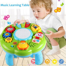 Multifunction Baby Music Toy Instrument Table Animal Farm Piano Musical Early Learning Educational Toys for Children Gift(China)