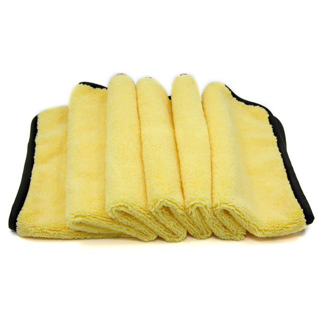Large Size Microfiber Car Cleaning Towel Cloth Multifunctional Wash Washing Drying Cloths 92*56cm Yellow Super Absorbent Hemming