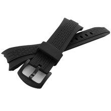 2016 Nuevo de Alta Calidad correa de caucho 26mm Correas de reloj de Silicona de Buceo Negro fit 7T62-OHTO