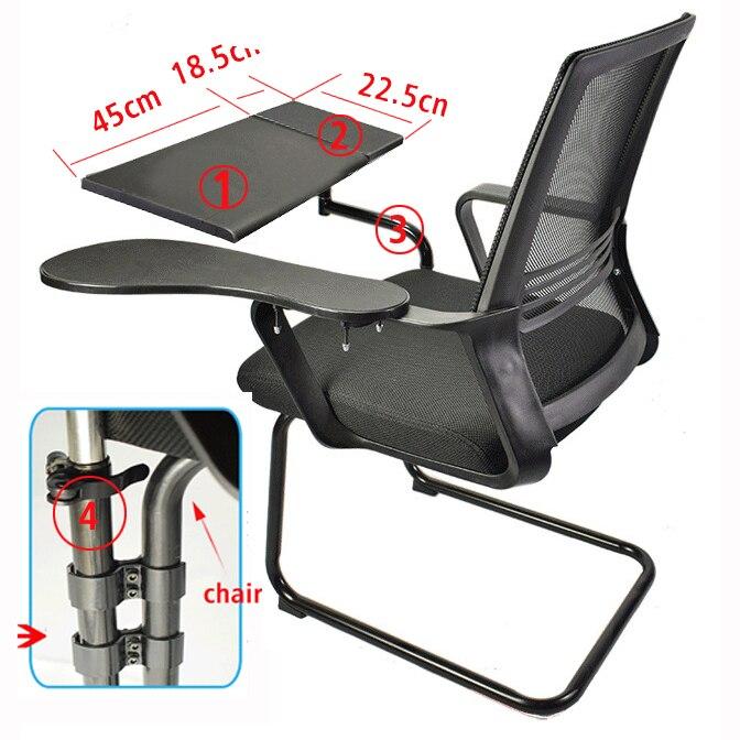 D-mount multifonctionnel plein mouvement chaise ronde serrage clavier Support bureau d'ordinateur portable Support tapis de souris acier inoxydable 20 kg