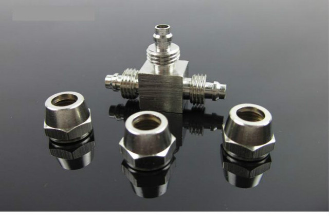 Stainless Steel 3 Way High Pressure Aquarium Co2 Air Tube Connector Valve Diy Accessory For Fish Tank Water Plant