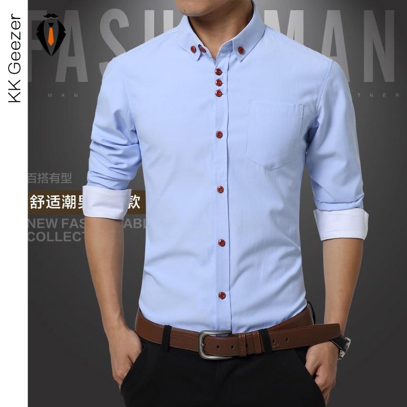 Buy Shirts Men Long Sleeve Casual Cotton