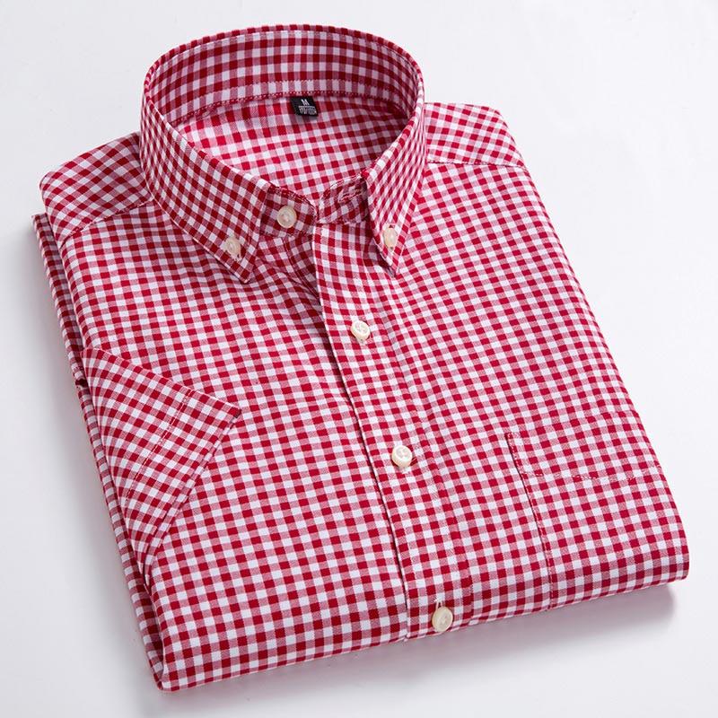 High Quality Men's Oxford Casual Shirts Men Men's Clothings Men's Shirts Men's Tops
