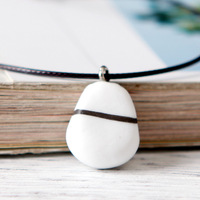2017 Free Shipping Original Couple Necklace Ceramic Art Simple Chain Korea Clavicle Sweater Chain Jewelry Art